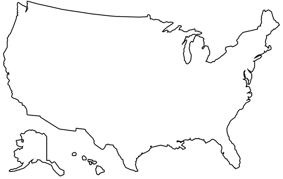 PNG Usa Outline Transparent Usa Outline.PNG Images. | PlusPNG