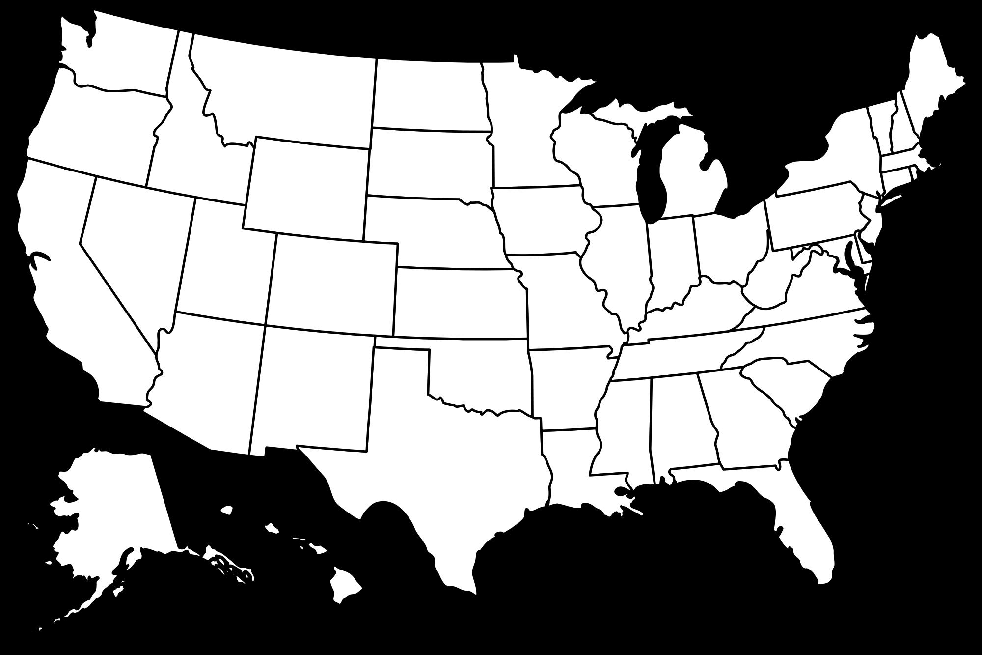 PNG Usa Outline - 81747