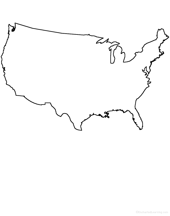 PNG Usa Outline - 81741