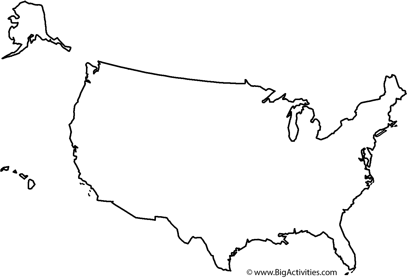 Us Map Outline Png | MAP of US