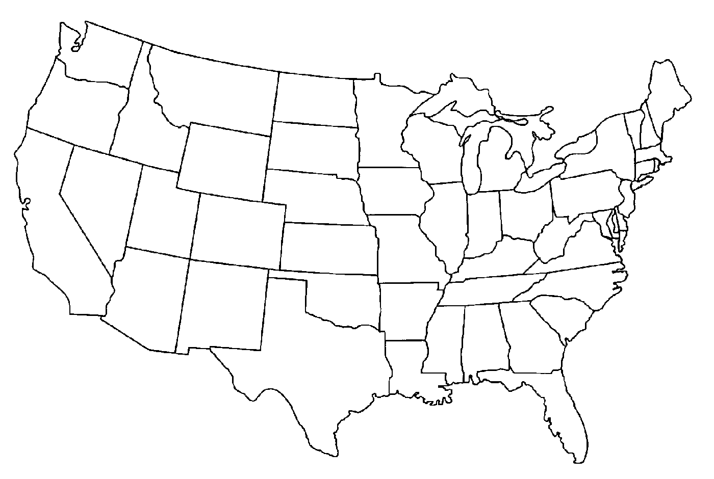 United States Of America Map Outline.Png Usa Outline Transparent Usa Outline Png Images Pluspng