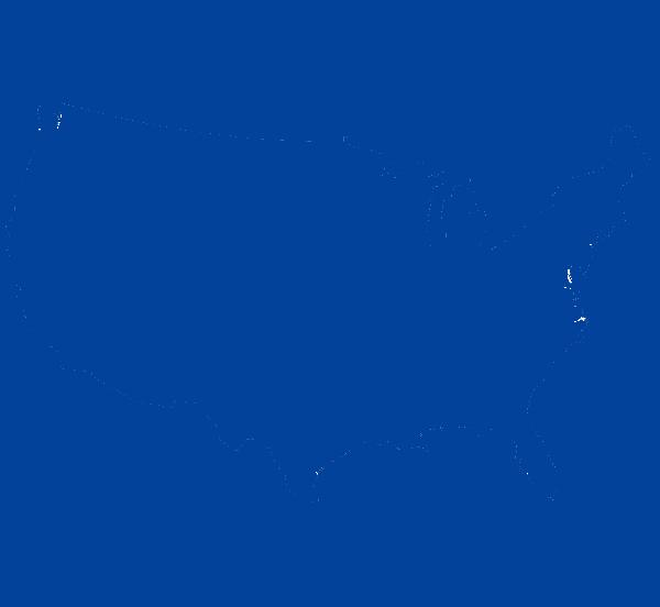 Usa outline - PNG Usa Outline