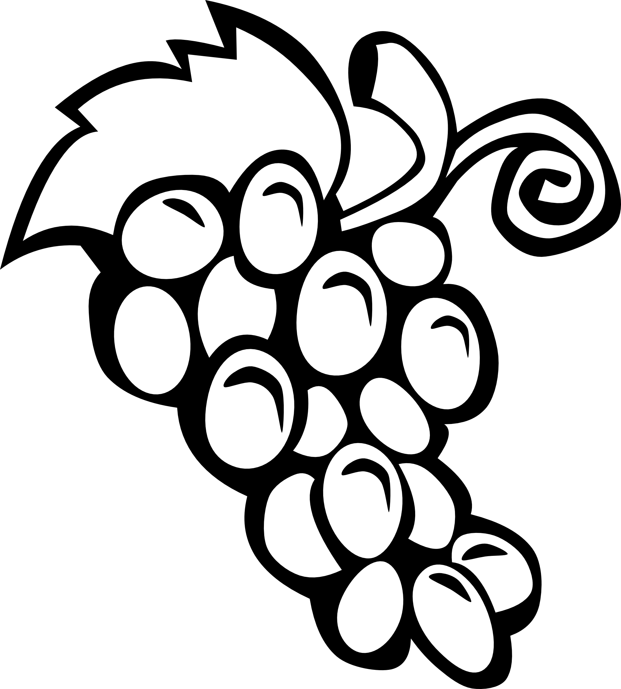 PNG Vegetables And Fruits Black And White - 54837
