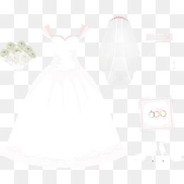 Vector hand-painted wedding veil and wedding rings, Vector, Hand Painted,  Wedding - PNG Veil