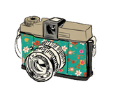Floral Vintage Camera! by ShahrulSwifty13 PlusPng.com  - PNG Vintage Camera