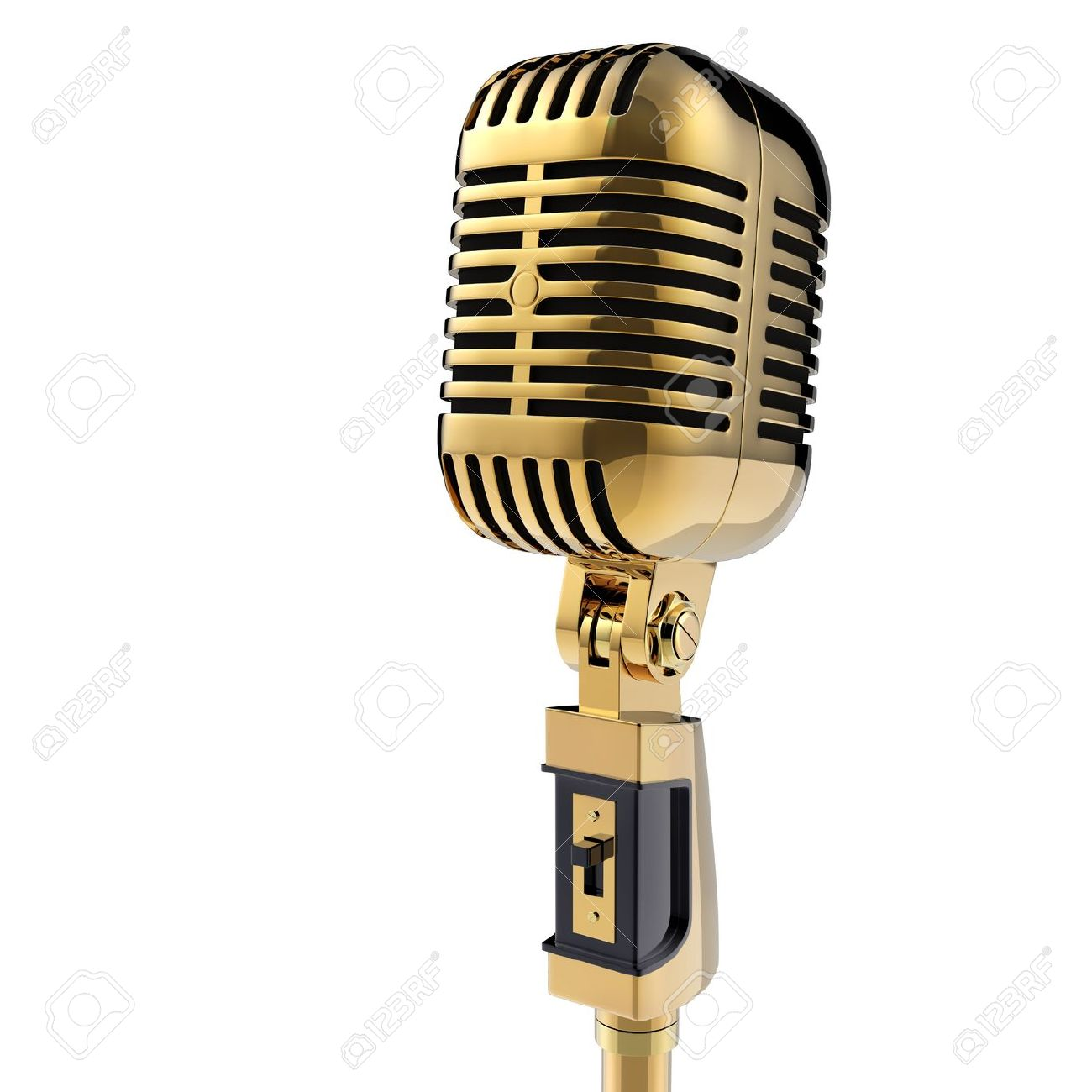 3d Retro microphone isolated on white Stock Photo - 14730787 - PNG Vintage Microphone