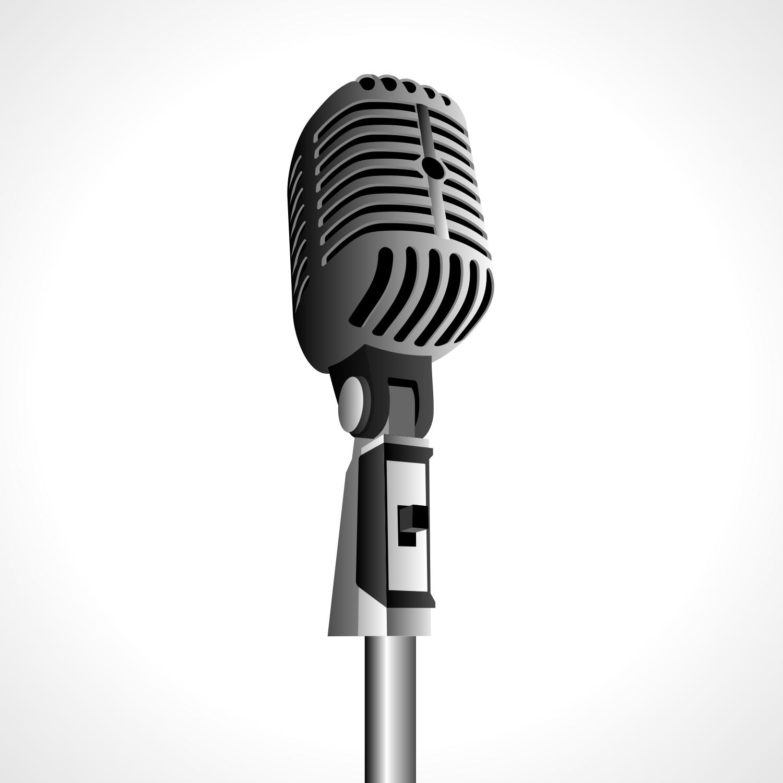 Vintage microphone - PNG Vintage Microphone