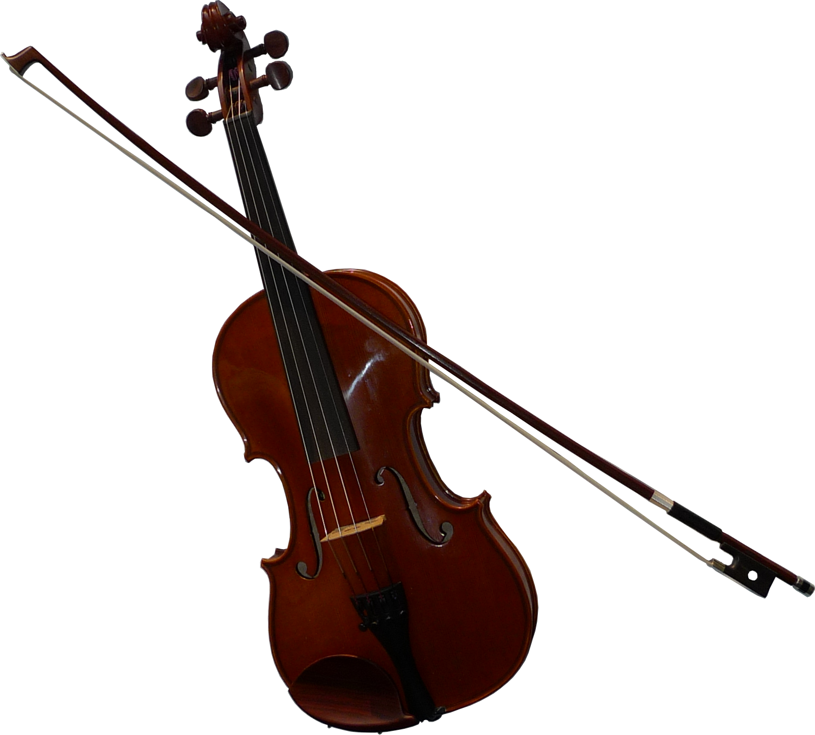 File:Violin-with-bow.png - PNG Violin