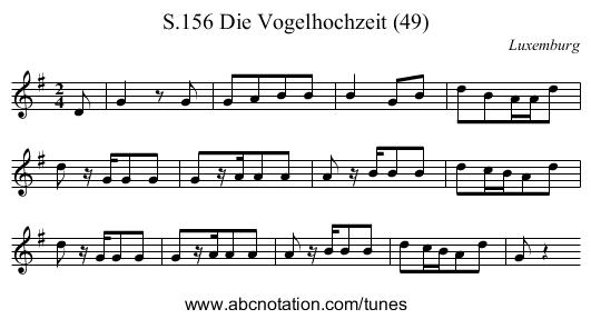 Die Vogelhochzeit (49), S.156 - staff notation - PNG Vogelhochzeit