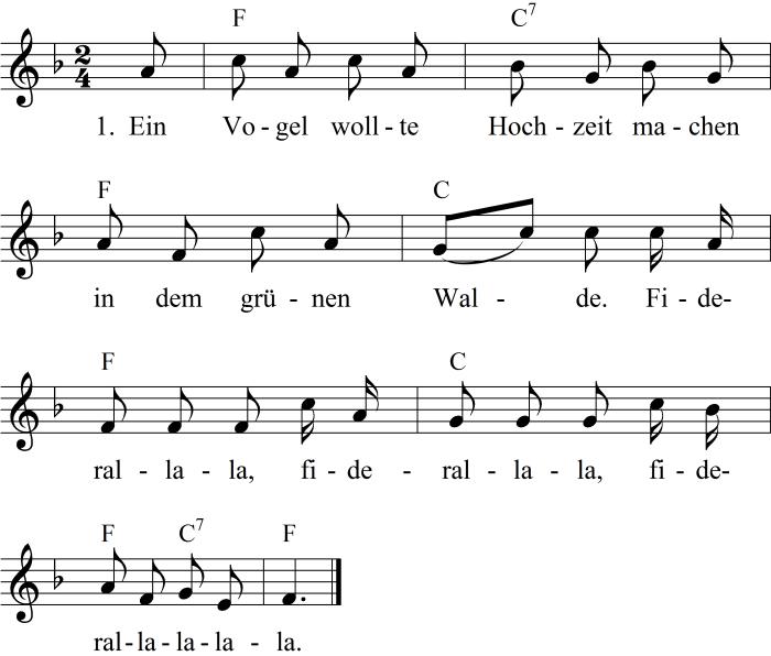 Liedtext Ein Vogel Wollte Hochzeit Machen