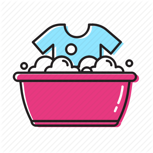 clothes tub, clothes wash, hand, wash icon - PNG Washing Clothes
