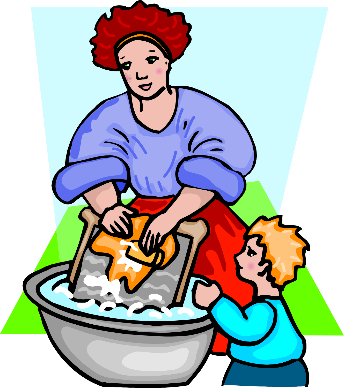 PNG Washing Clothes - 55681