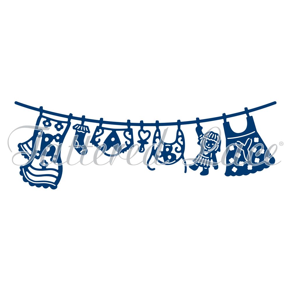 Baby Girl Washing Line (D752) - PNG Washing Line
