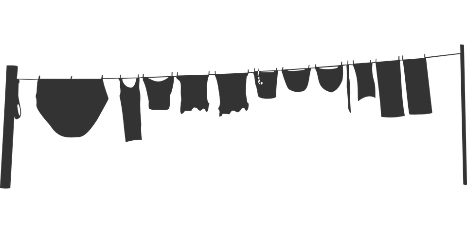 Clothesline, Washing Line, Laundry, Silhouette, Grey - PNG Washing Line