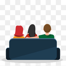 Cartoon family sit on the sofa watching TV, Hand-painted Cartoon, Family, ·  PNG AI - PNG Watching Tv