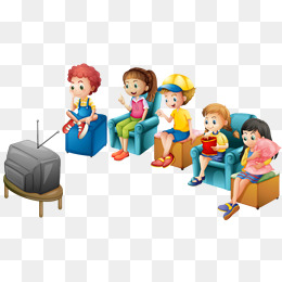Children watch TV, Children, At Home Watching TV, Watch TV PNG Image - PNG Watching Tv