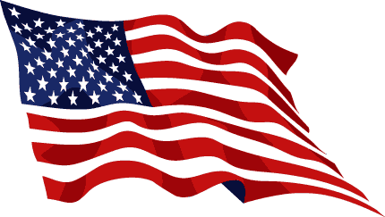American flag usa waving flag clipart clipartcow