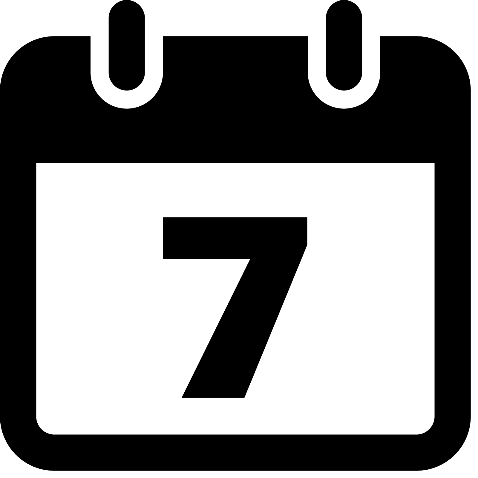 Calendar Icon Transparent Background : Png week transparent images pluspng