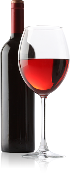 PNG Wine Bottle And Glass - 53502