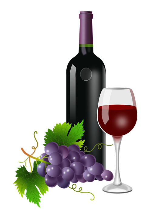 PNG Wine Bottle And Glass - 53503