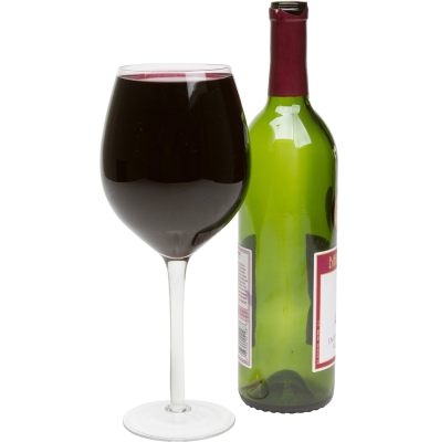 PNG Wine Bottle And Glass - 53504
