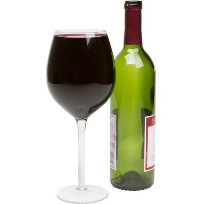 Large Wine Glass Holds a Full Bottle