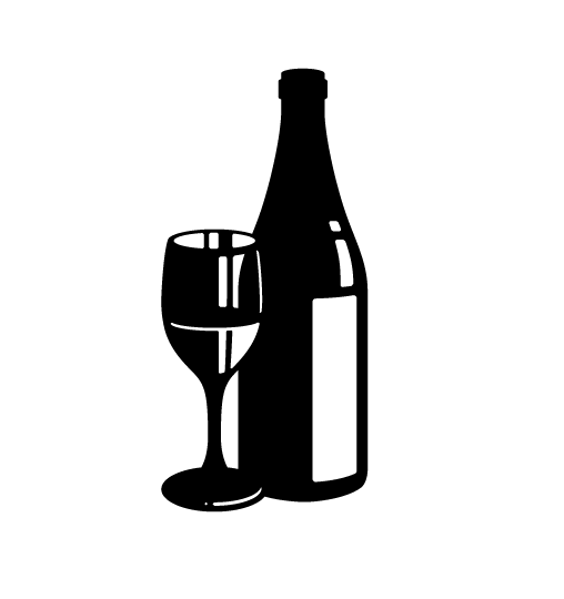 PNG Wine Bottle And Glass - 53509