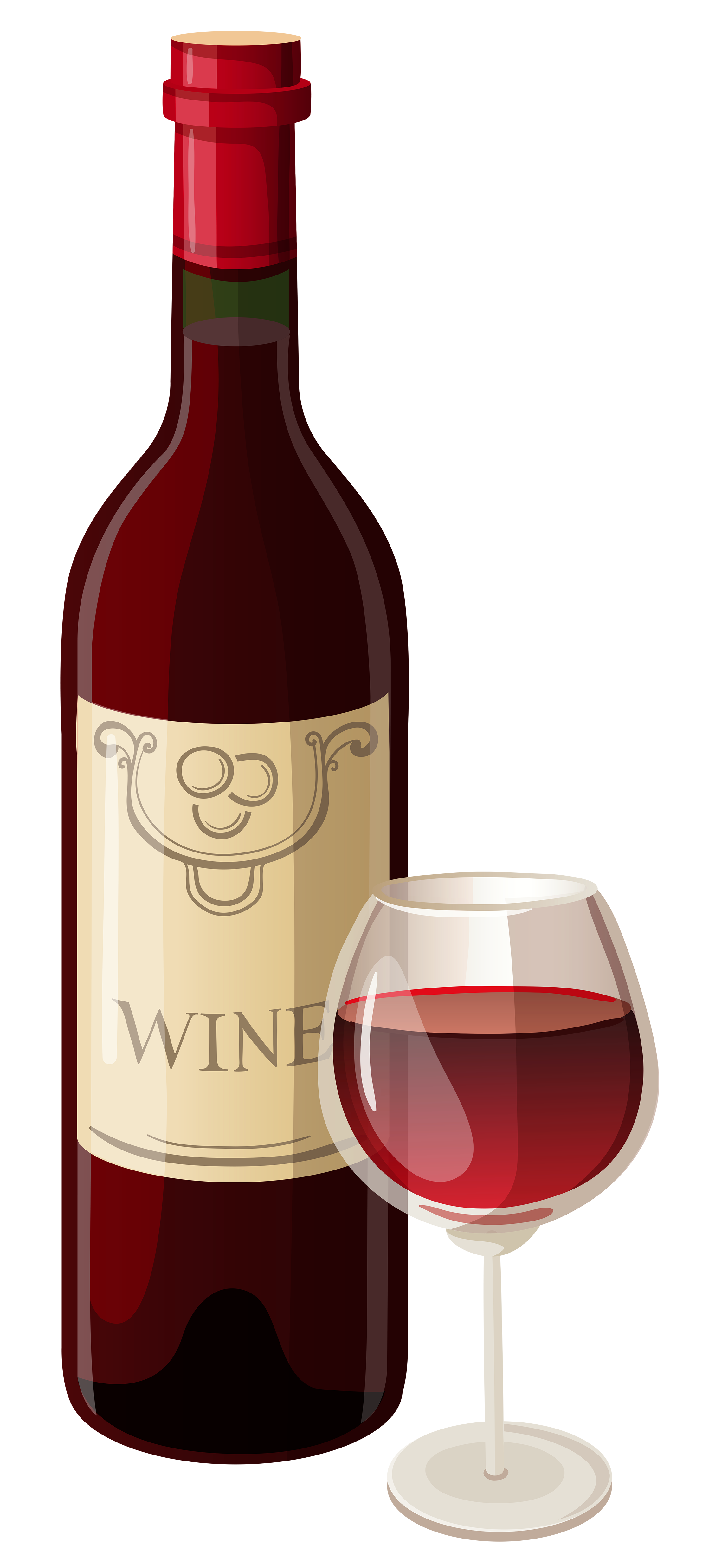 PNG Wine Bottle And Glass - 53496