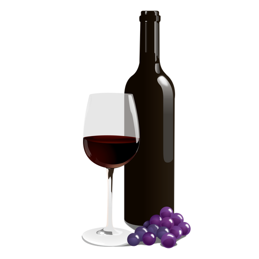 PNG Wine Bottle And Glass - 53494