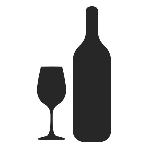 PNG Wine Bottle And Glass - 53497