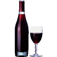 PNG Wine Bottle And Glass - 53495