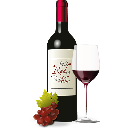 PNG Wine Bottle And Glass - 53493