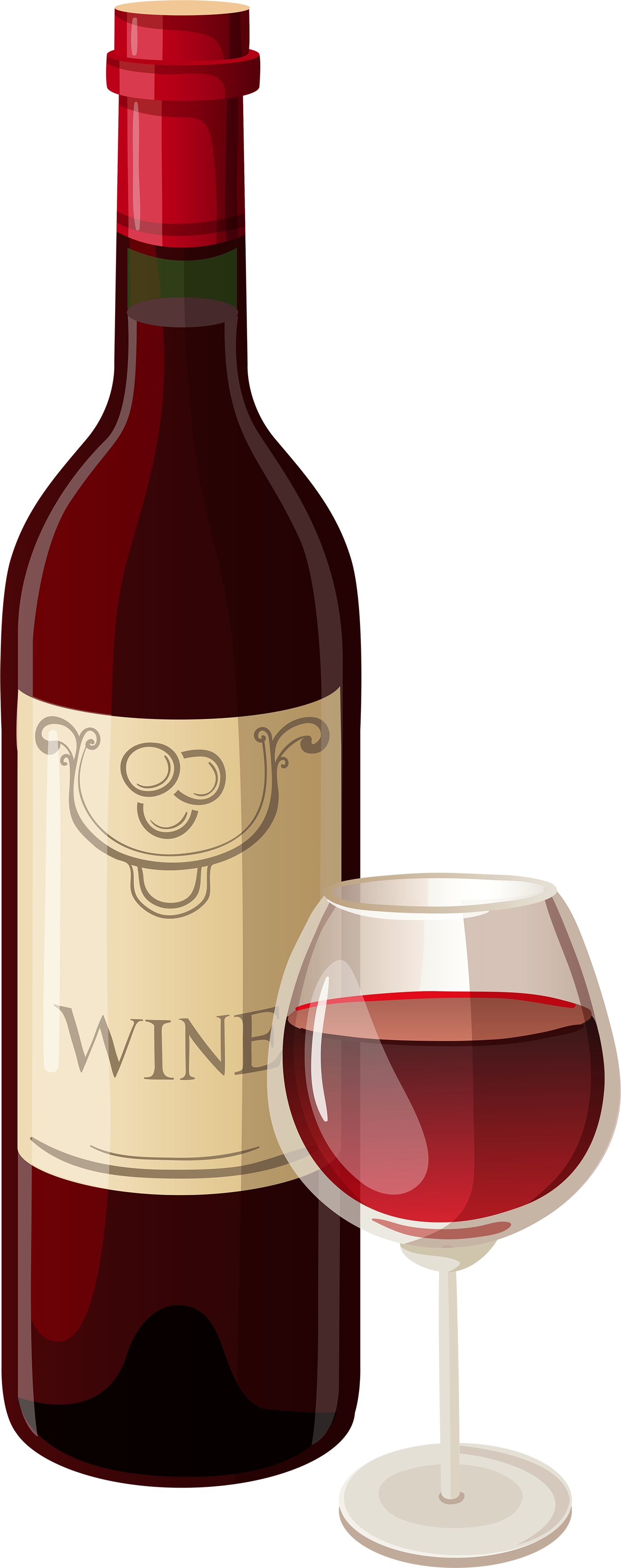 PNG Wine Bottle And Glass - 53498