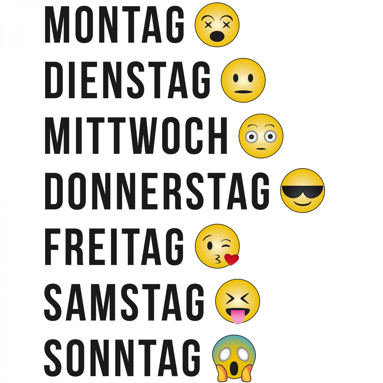 Smileys Wochentage - Herren T-Shirt u2013 Bild 4 - PNG Wochentage