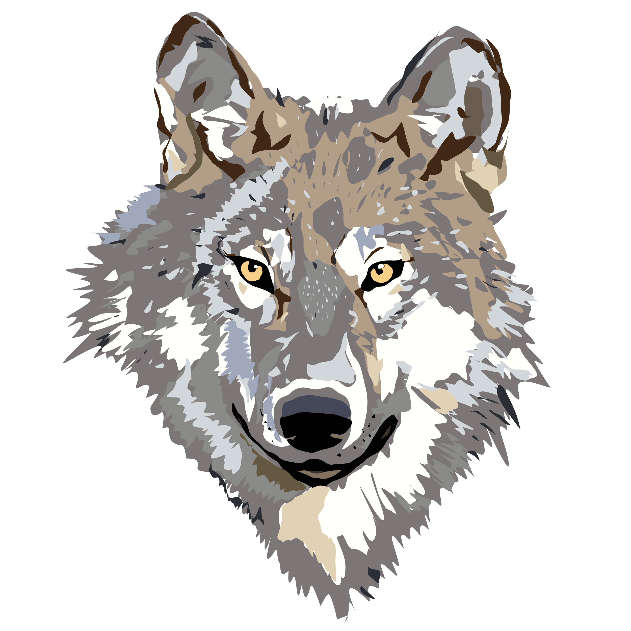 PNG Wolf Head - 42046