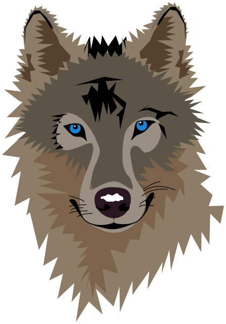PNG Wolf Head - 42049