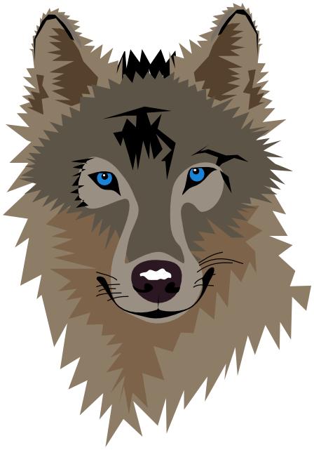 wolf head blue eyes - /animals/W/wolf/wolf_head/wolf_head_blue_eyes.png.html - PNG Wolf Head