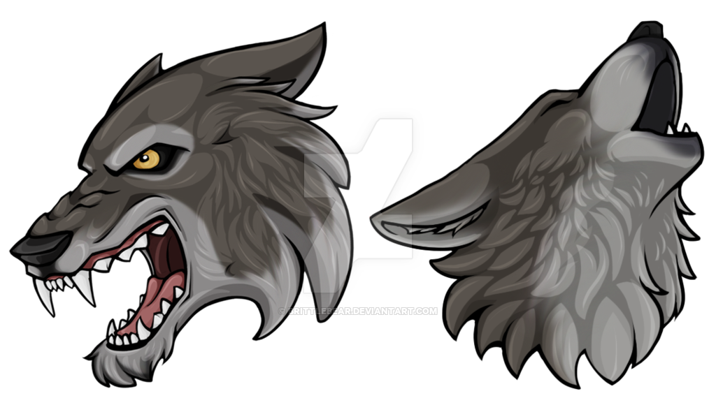 Wolf Head Crests by Brittlebear PlusPng.com  - PNG Wolf Head