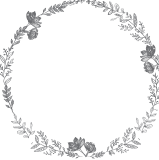 PNG Wreath Black And White - 41091