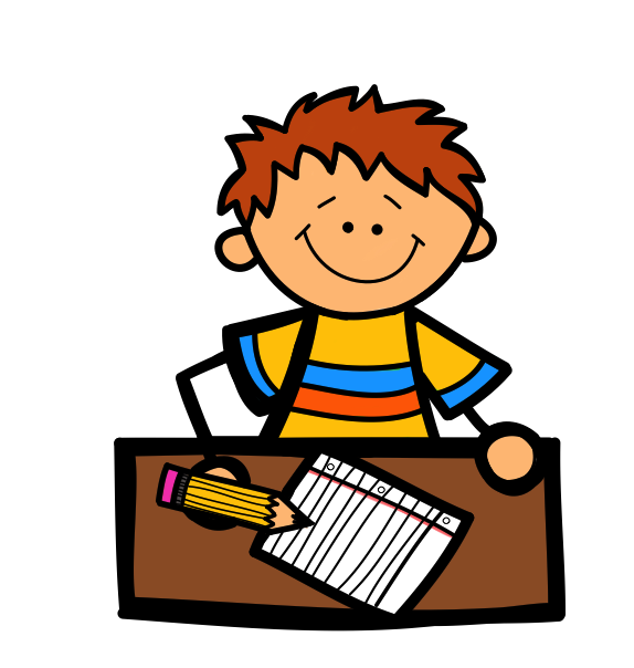 Free Clip Art Children Writing Free Clipart Images - PNG Writing Kids