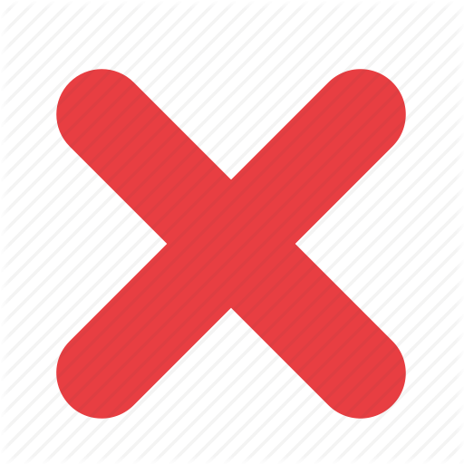 cancel, cross, exit, no, not allowed, stop, wrong icon icon - PNG Wrong Cross