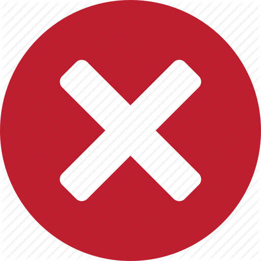 Clear, Cross, Empty, Incorrect, Red, Wrong Icon - PNG Wrong Cross