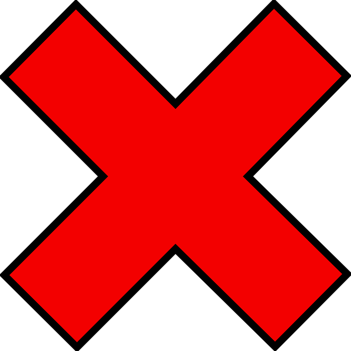 Red, Mark, Cross, Crossed, Wrong, Incorrect, Sign - PNG Wrong Cross