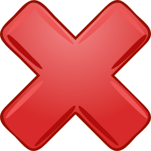 Red X Cross Wrong Not Clip Art - PNG Wrong Cross