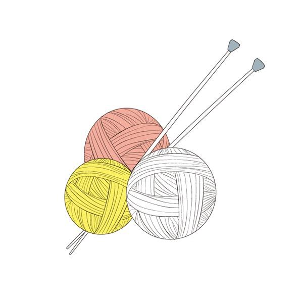 Novelty Knitting Needles : Png yarn and knitting needles transparent