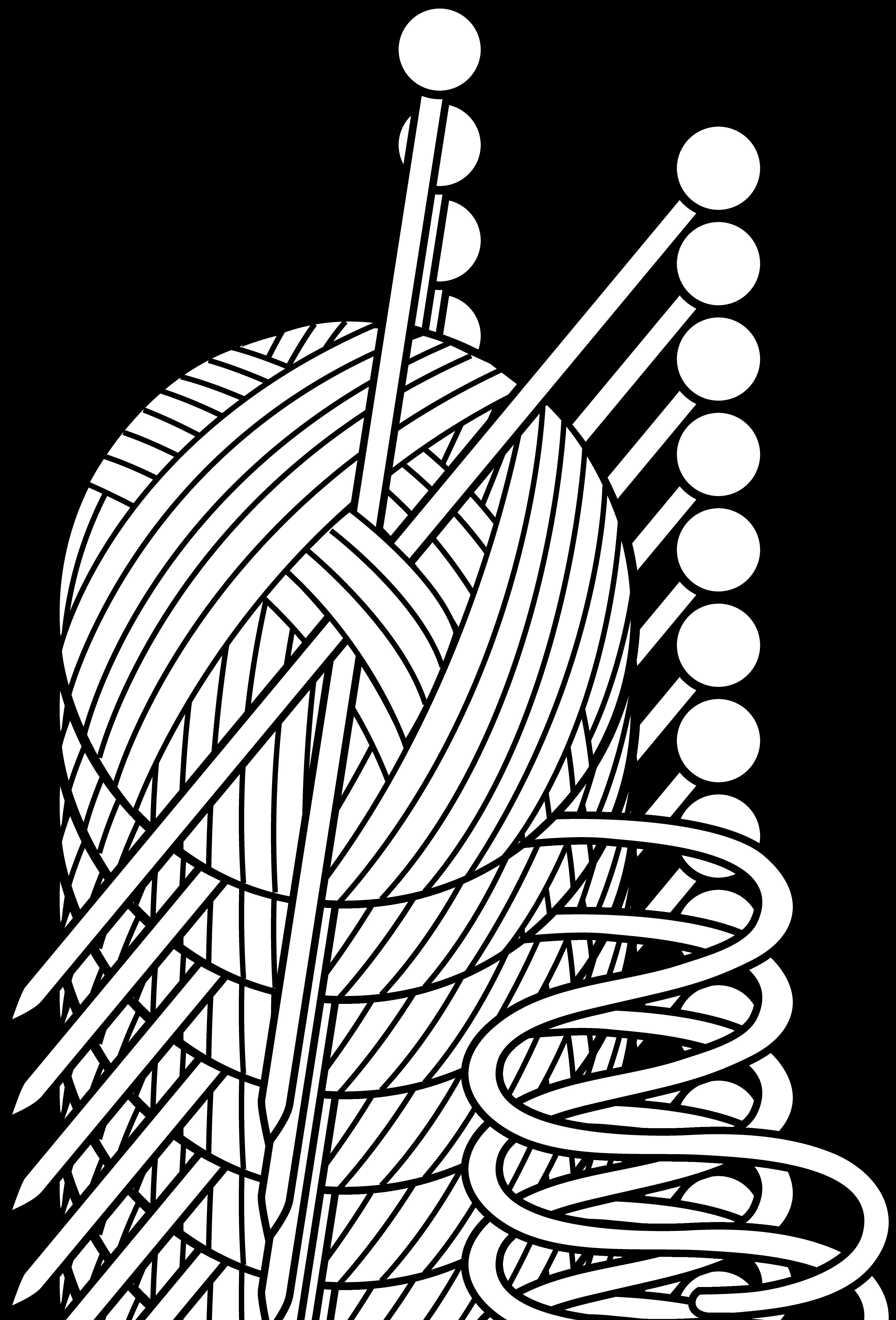 PNG Yarn And Knitting Needles - 41536
