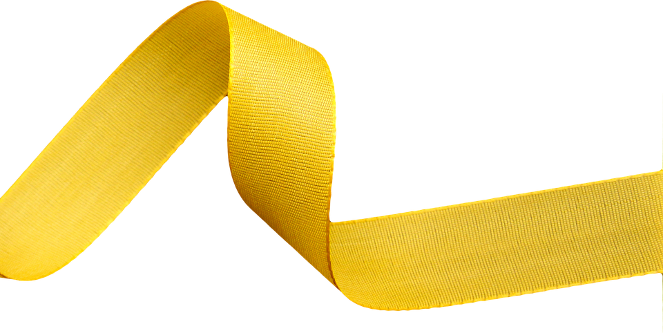 Ribbon, Png, Clipping, Accessories - PNG Yellow
