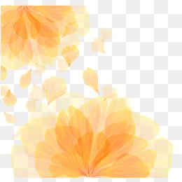 Vector orange flower pattern texture - PNG Yellow