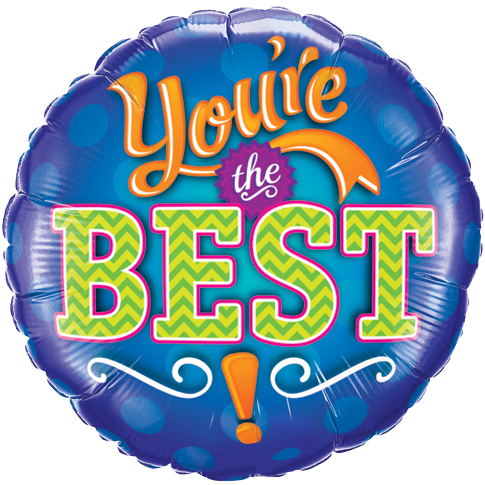 You´re The Best! Folieballong - 46cm - PNG Youre The Best