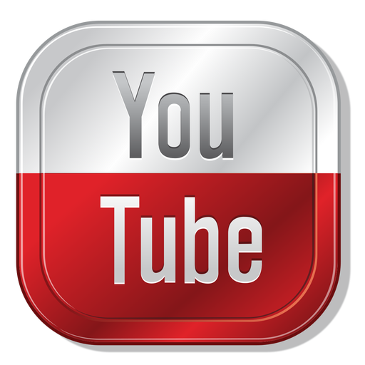 Youtube metallic button - PNG Youtube